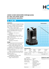 Model C 135 W - Jacket Cooled Submersible Drainage Pump Brochure